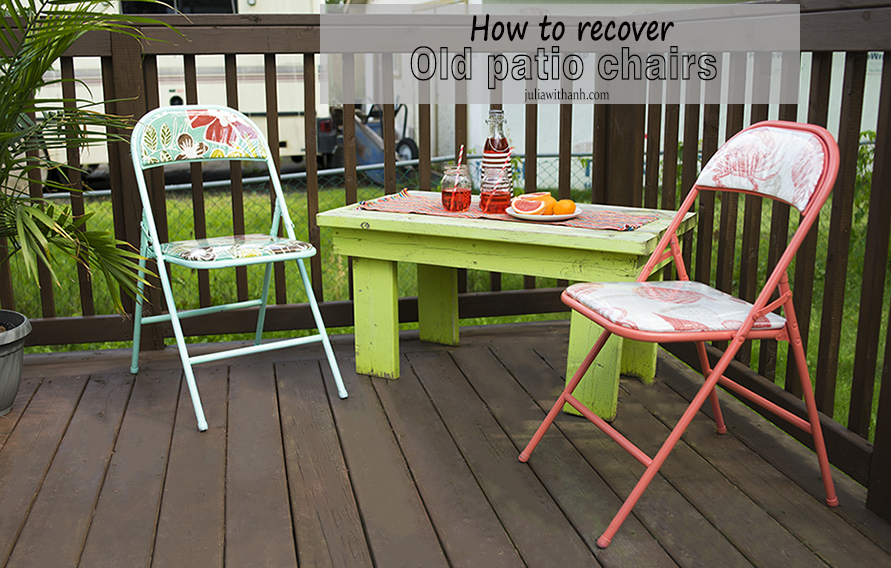how to recover old folding patio chairs